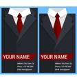 Flat business card template with black jacket vector image vector image
