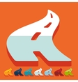 Flat design road vector image vector image