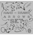 Hand-drawn arrows set