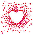 heart shape lined with paper hearts happy vector image