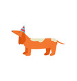 honey cheerful orange dog is having fun and having vector image vector image