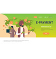indian business people e-payment money transaction vector image vector image