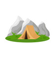 isolated object tent and mountain symbol set vector image