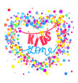 kids zone flat banner colorful bubbles vector image vector image