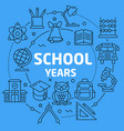 linear school yaers vector image