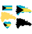 Map of The Bahamas vector image vector image