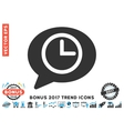 Message Time Flat Icon With 2017 Bonus Trend vector image vector image