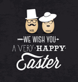mr and mrs easter greeting card in vintage style vector image vector image