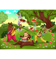Musicians animals in the wood vector image vector image