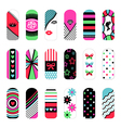 nail art ornaments vector image vector image