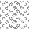 Pet paw pattern - seamless texture vector image vector image