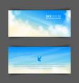 realistic beige-blue sky vector image vector image