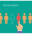 recruitment and human resource infographics vector image vector image