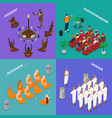 religions people isometric concept vector image vector image
