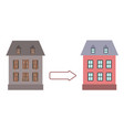 renovation building house before and after repair vector image