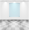 Room with glass placeholder vector image vector image