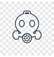 safety mask concept linear icon isolated on vector image