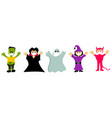 set characters for halloween during covid19 vector image vector image