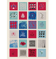 set of square artistic cards banners vector image vector image