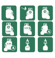 Set of tourism coocking equipment icons vector image