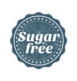 sugar free stamp webseal or badge for products vector image vector image