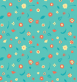 summer flowers pattern vector image vector image