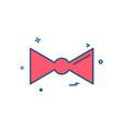 tie icon design vector image vector image