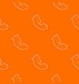 up arrow pattern orange vector image vector image