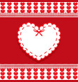 valentines template with space for text and heart vector image vector image