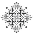 viking decoration knot - chained rounded squares vector image vector image