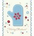 vintage holiday patchwork card vector image