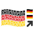 waving germany flag pattern of arrow up right vector image