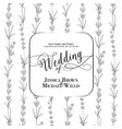 wedding invitation with blossom lavender bridal vector image vector image