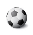 white and black soccer ball icon isolated sports vector image