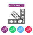 color palette guide logotype design templates vector image