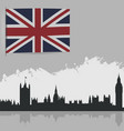 flag of great britain and the outlines of vector image