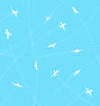 Abstract background with airplane lines vector image
