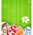 Abstract Easter background vector image vector image