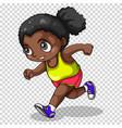 african american girl running vector image