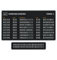 airport flip board departures information vector image