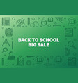 back to school big sale outline horizontal vector image vector image