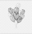 balloons 3d bunch set thread isolated white