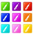 baseball icons 9 set vector image vector image