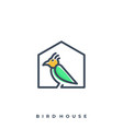 bird house template vector image vector image
