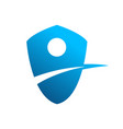 blue lane shield symbol vector image