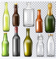 bottle glass glassware of water-bottle and vector image vector image