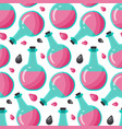 bottle of poison seamless pattern vector image vector image
