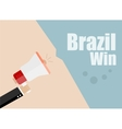 Brazil win Flat design business vector image vector image