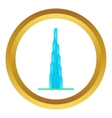 Burj Khalifa icon vector image vector image