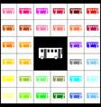 bus simple sign felt-pen 33 colorful vector image vector image
